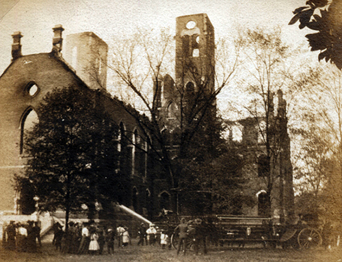 Photo of Main Building Fire of 1905