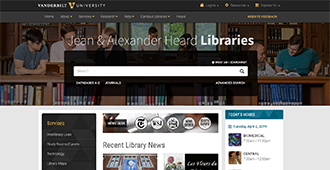 Vanderbilt Libraries Website