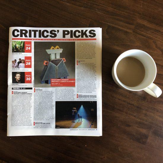"Nashville Scene's Critics' Pick: Susan DeMay, ""Divergent Practices: A Career in Ceramics"""