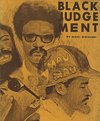 Book cover of Black Judgement by Nikki Giovanni