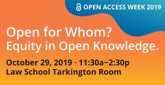Open Access Week Oct 29