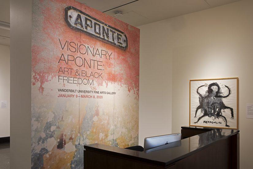 Visionary Aponte Exhibition installation