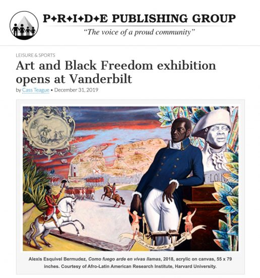 PRIDE article on Visionary Aponte exhibition