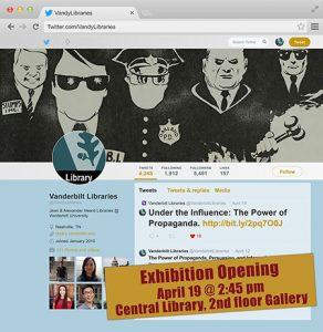 Screenshot of exhibit opening announcement