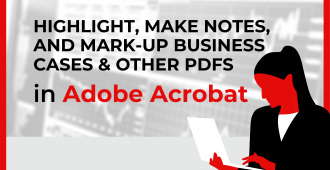 Highlight, Make Notes, and Mark-Up your Business Cases and other PDFs