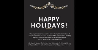 happy holidays from Special Collections and University Archives