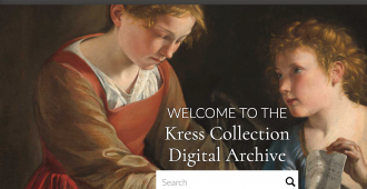 Kress Collection Digital Archive Landing Page