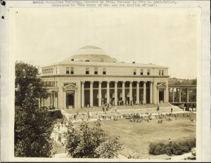 sepia photograph of domed building